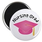 Pink Nursing Grad Hat Magnet