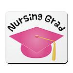 Pink Nursing Grad Hat Mousepad
