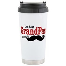 Best Grandpas Have Mustaches Ceramic Travel Mug