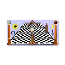 Masonic Lodge Aluminum License Plate