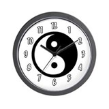 Yin Yang Wall Clock
