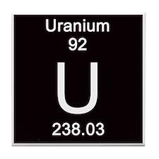 Periodic Table Uranium Tile Coaster forUranium Periodic Table