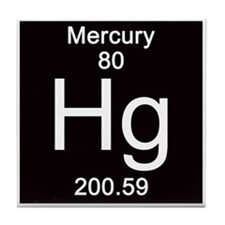 Periodic Table Mercury Tile Coaster