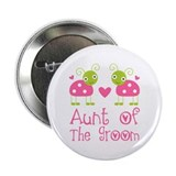"Aunt of the Groom Ladybug 2.25"" Button"