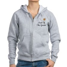 Aunt of the Groom Gift Zip Hoodie
