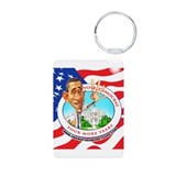 Cute Democrats Aluminum Photo Keychain