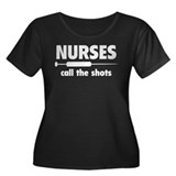 Nurses Call The Shots Women's Plus Size Scoop Neck