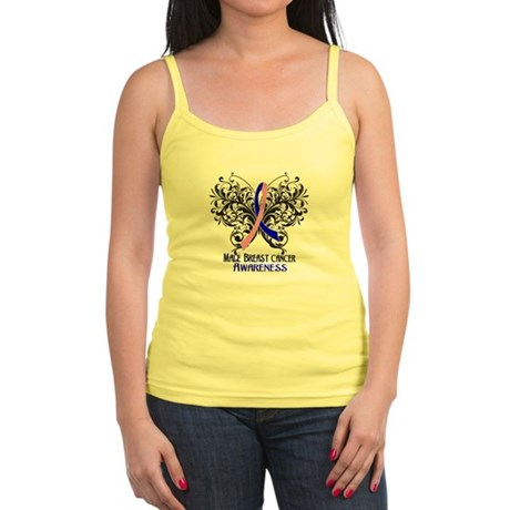 Butterfly Male Breast Cancer Jr. Spaghetti Tank