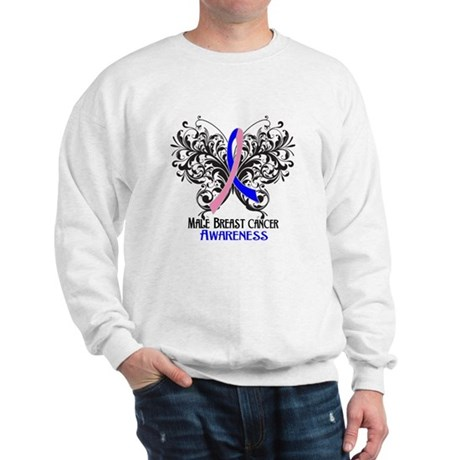 Butterfly Male Breast Cancer Sweatshirt