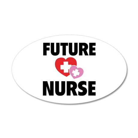Future Nurse 38.5 x 24.5 Oval Wall Peel