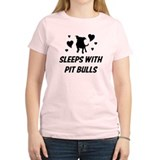 Sleeps with Pit Bulls T-Shirt