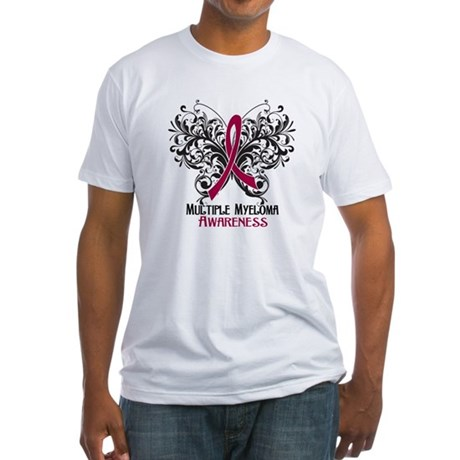 Butterfly Multiple Myeloma Fitted T-Shirt