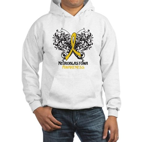 Butterfly Neuroblastoma Hooded Sweatshirt