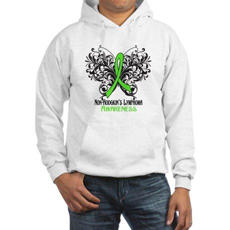 Butterfly Non-Hodgkins Hooded Sweatshirt