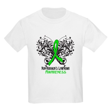 Butterfly Non-Hodgkins Kids Light T-Shirt