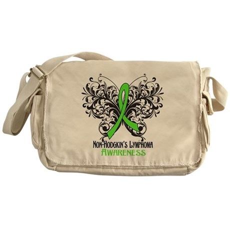 Butterfly Non-Hodgkins Messenger Bag
