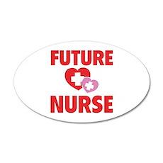 Future Nurse 38.5 x 24.5 Oval Wall Peel