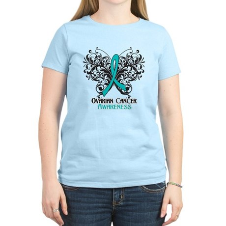 Butterfly Ovarian Cancer Women's Light T-Shirt