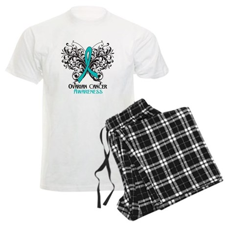 Butterfly Ovarian Cancer Men's Light Pajamas