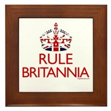 Rule Britannia Framed Tile