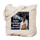 Dog Vinci Code Tote Bag