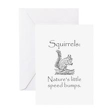 Squirrel Speed Bump Greeting Card