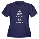 Keep Calm and Be Fierce Women's Plus Size V-Neck D