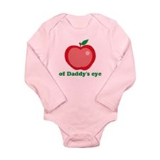 Apple Of Daddy's Eye Long Sleeve Infant Bodysuit
