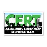 CERT Citizen Corps Vinyl 20x12 Wall Peel-no URL