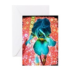 """Berry Iris"" Greeting Card"
