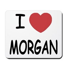 I heart Morgan Mousepad