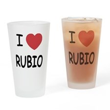 I heart Rubio Drinking Glass
