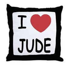 I heart Jude Throw Pillow