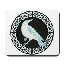 White Crow Celtic design Mousepad