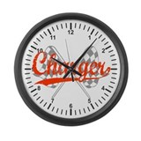 Charger Large Wall Clock