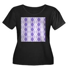 Purple Argyle T