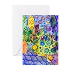 Feelin' Groovy Greeting Cards (Pk of 20)