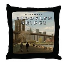 Historic Brooklyn Bridge Throw Pillow
