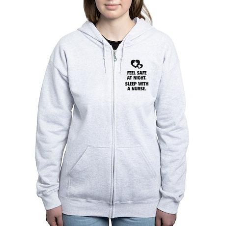 Feel Safe At Night Women's Zip Hoodie