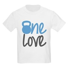 Blue One Love Kettlebell T-Shirt