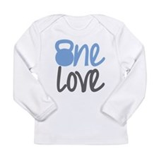 Blue One Love Kettlebell Long Sleeve Infant T-Shir