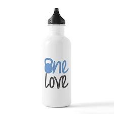 Blue One Love Kettlebell Water Bottle