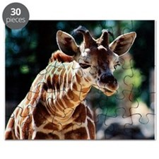 Curious Baby Reticulated Giraffe Puzzle
