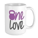Purple One Love Kettlebell Mug