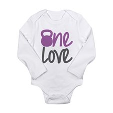 Purple One Love Kettlebell Long Sleeve Infant Body