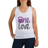 Purple One Love Kettlebell Women's Tank Top