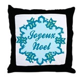 Merry Christmas in French Throw Pillow