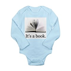 Its a book Long Sleeve Infant Bodysuit