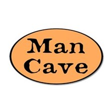 Man Cave 22x14 Oval Wall Peel