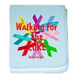 Walking for the CURE copy.png baby blanket